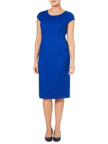 Windsmoor Cobalt Lace Shift Dress