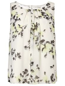 Jacques Vert All Over Print Flowers Top