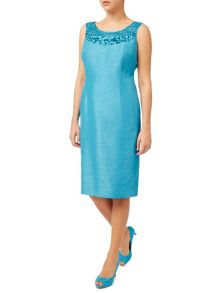 Jacques Vert Embellished Yolk Dress