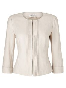 Precis Petite Collarless Pintuck Jacket