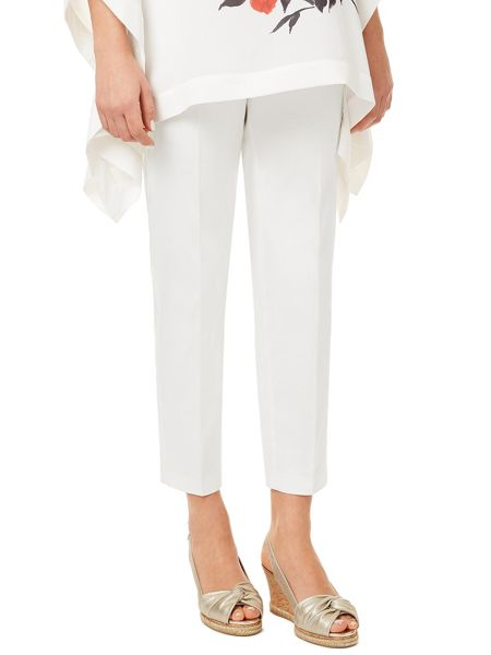 Jacques Vert Cotton Sateen Cropped Trouser