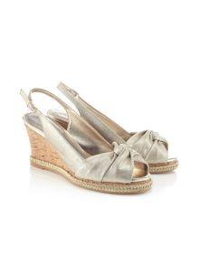 Jacques Vert Metallic Knot Open Toe Shoe