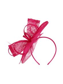 Precis Petite Pink Bow Disc Fascinator
