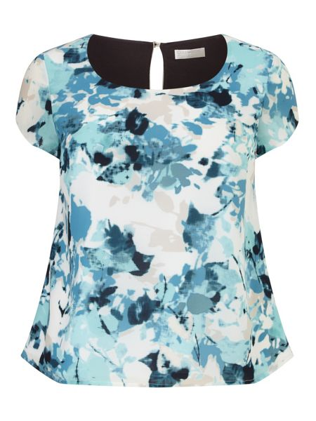 Windsmoor Printed Aqua Top