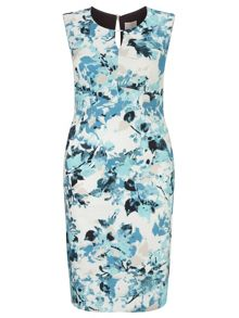 Windsmoor Printed Aqua Dress