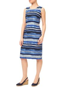Precis Petite Waterstripe Linen Shift Dress