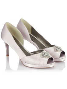 Jacques Vert Embellished Pleat Shoe