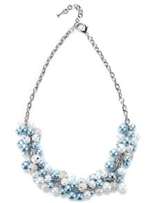 Jacques Vert Pearl Cluster Necklace