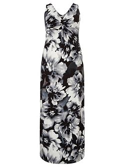 Windsmoor Mono Floral Printed Maxi Dress