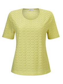 Eastex Lemon Yellow Texture Top
