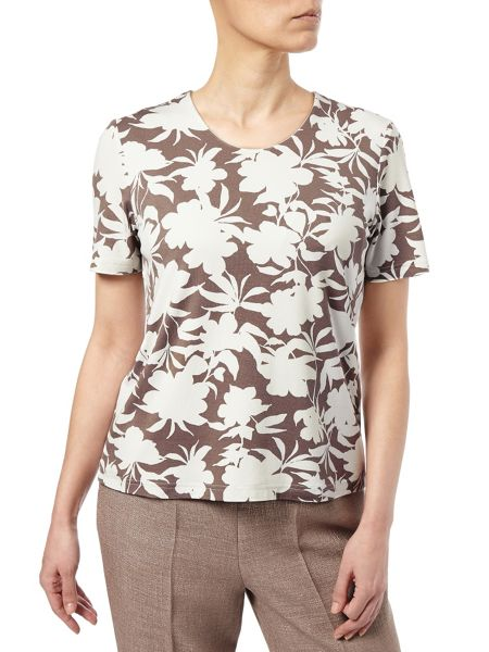 Eastex Monotone Printed Jersey Top