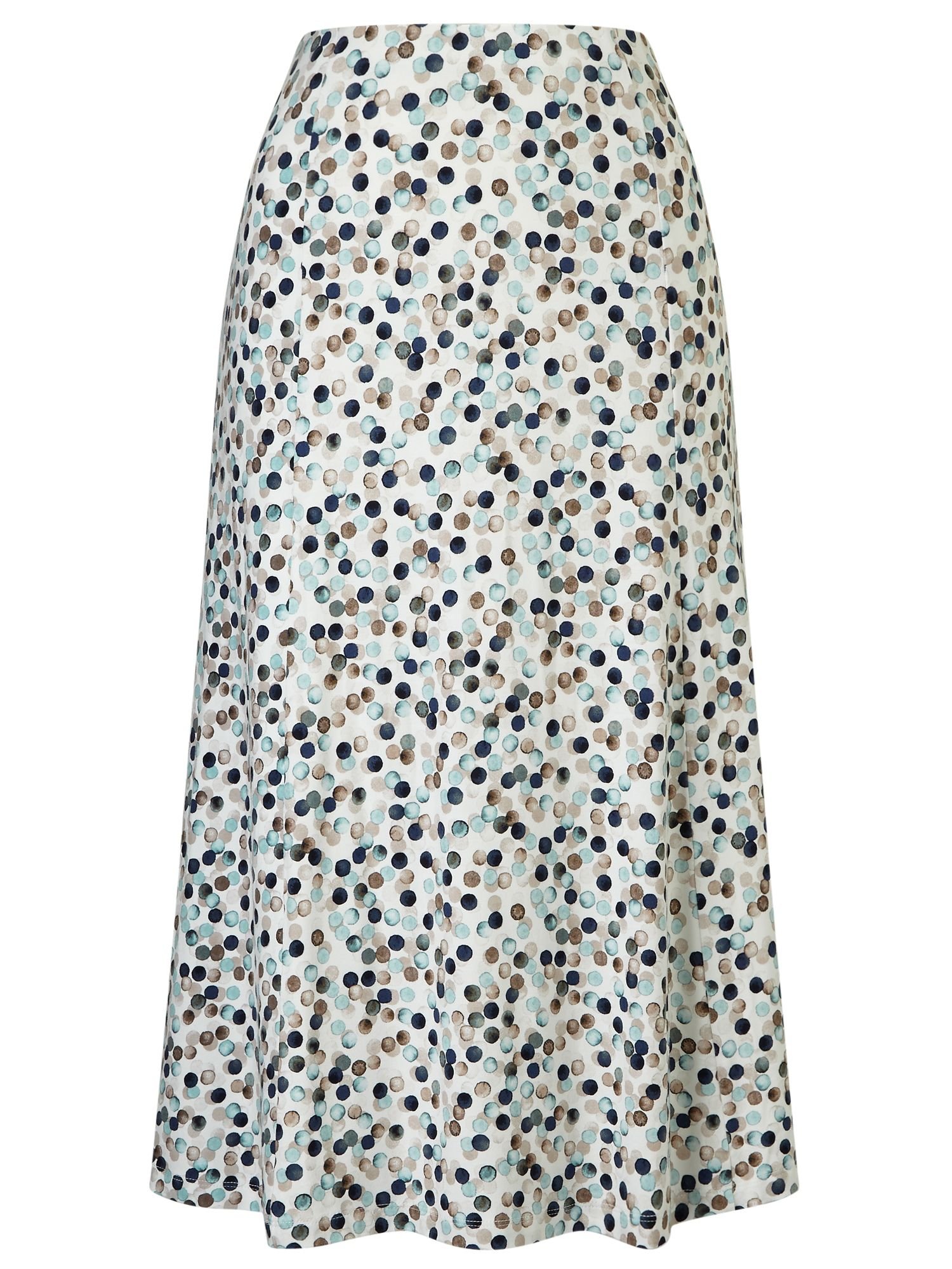 Eastex Painted Spot Jersey Skirt, Multi-coloured