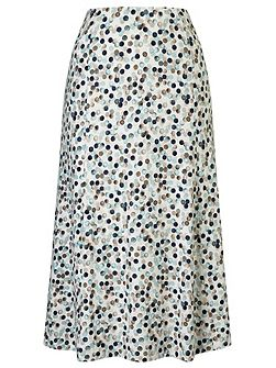 Painted Spot Jersey Skirt