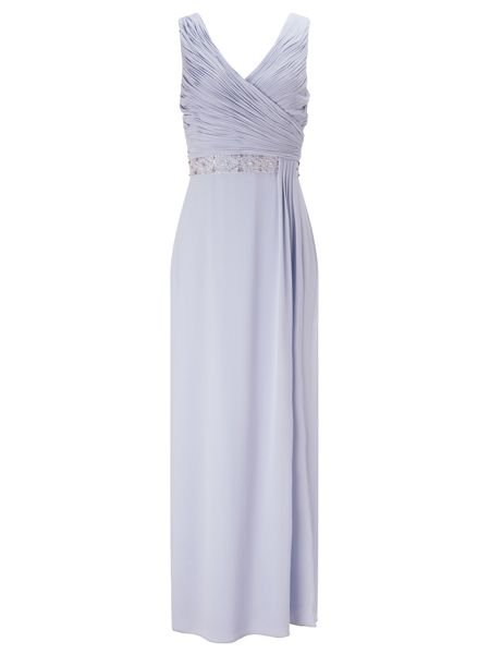 Jacques Vert Side Pleat Embellished Gown