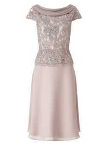 Jacques Vert Embellished Lace Bodice Dress