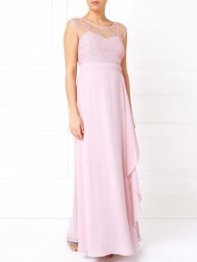 Jacques Vert Lace Overlayer Soft Drape Gown