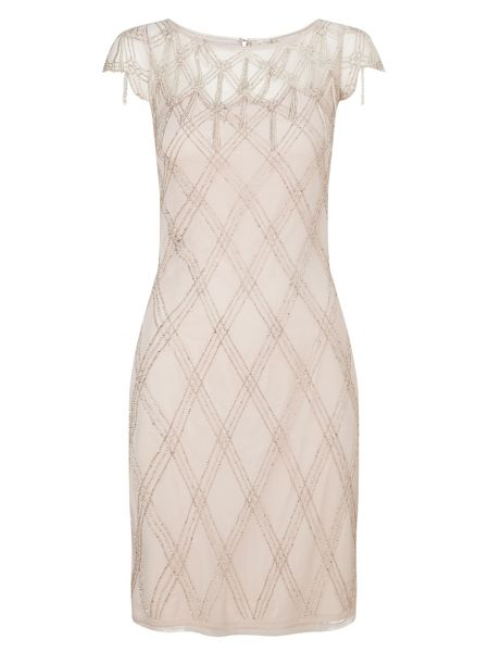 Jacques Vert Criss Cross Embellished Dress
