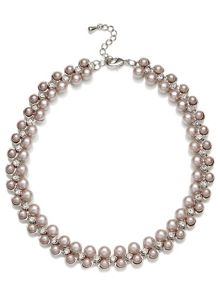 Jacques Vert Pearl And Diamante Necklace