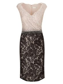 Jacques Vert Col Block Embellished Dress