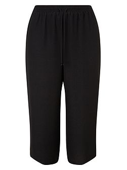Black Drawstring Culottes
