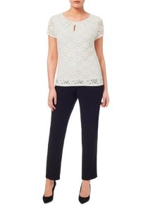 Windsmoor Contrast Lining Lace Top