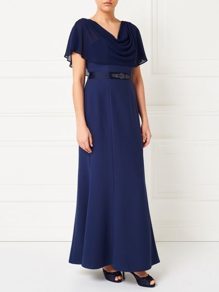 Jacques Vert Structured Bustier Cape Gown