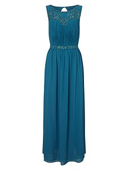 Embellished Yoke Dress Maxi