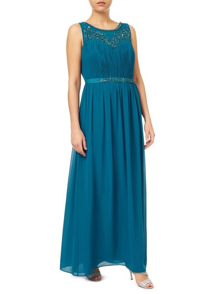 Jacques Vert Embellished Yoke Dress Maxi