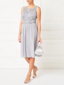 Jacques Vert Embellished Yoke Detail Dress