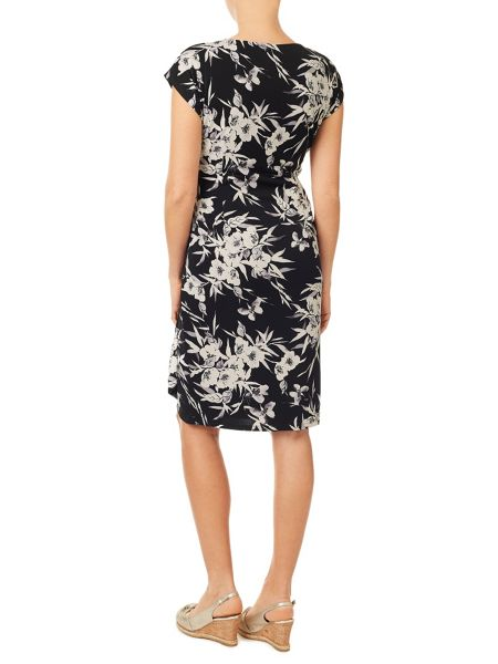 Jacques Vert Eastern Print Jersey Dress