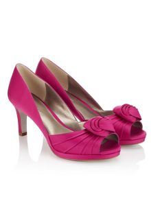 Jacques Vert Twist Pleat Platform Shoe