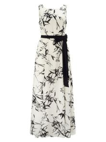 Jacques Vert Bamboo Print Maxi Dress
