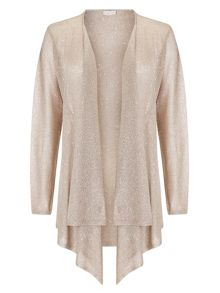 Jacques Vert Metallic Knit Drape Coverup
