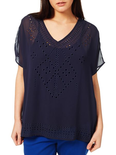 Windsmoor Navy Cutout Detail Top