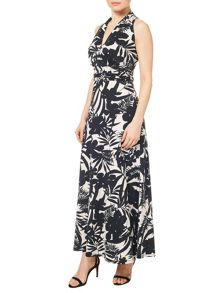 Precis Petite Palm Print Dress