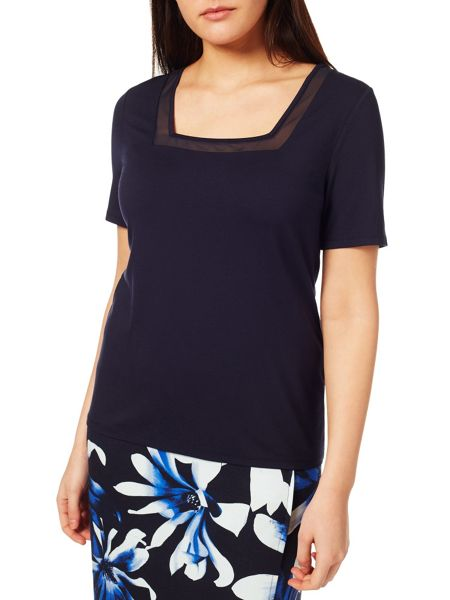 Windsmoor Navy Sheer Insert Top