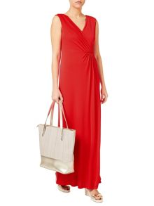 Jacques Vert Maxi Wrap Front Jersey Dress