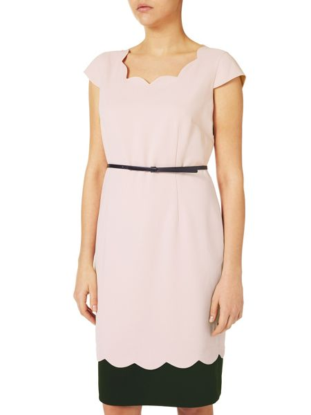Jacques Vert Scallop Contrast Layer Dress