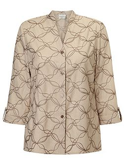 Contrast Embroidered Overshirt