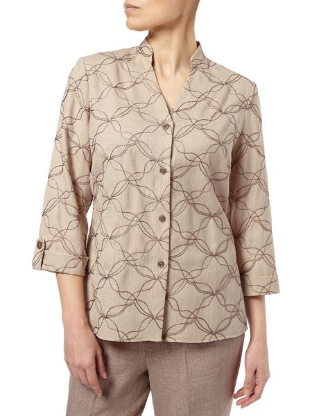 Eastex Contrast Embroidered Overshirt