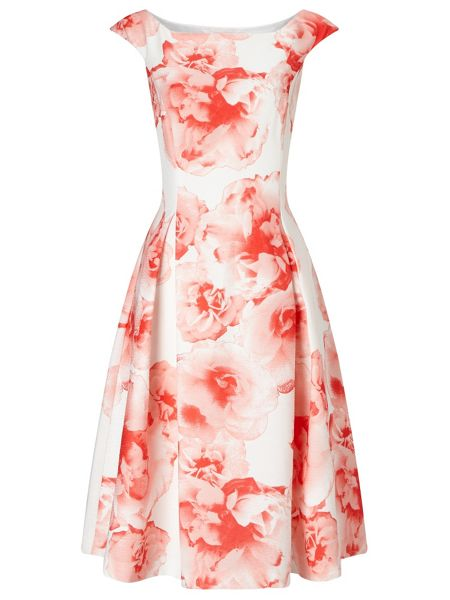 Jacques Vert Printed Texture Prom Dress