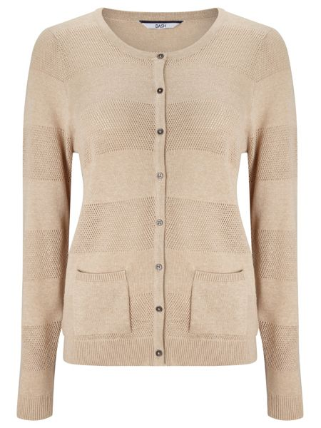 Dash Pointelle Cream Cardi