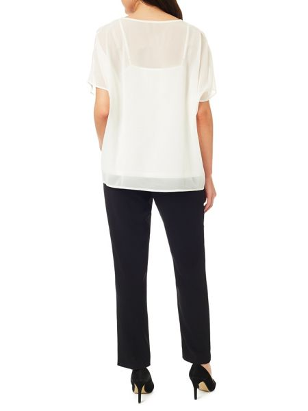 Windsmoor Ivory Cutout Detail Top