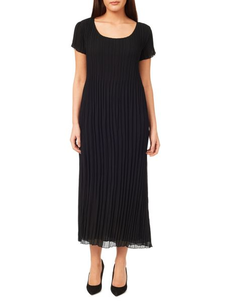 Windsmoor Black Crinkle Dress