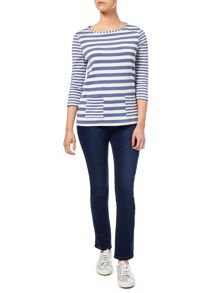 Dash Patch Pocket Stripe Top