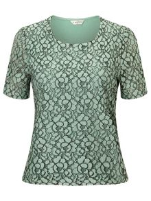 Eastex Lace Front Jersey Top