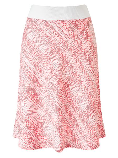 Dash Printed Linen Skirt