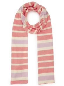 Dash Yarn Dyed Coral Stripe Scarf