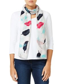 Dash Feather Print Scarf