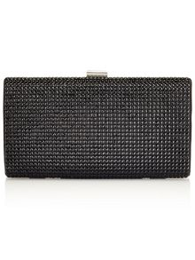 Jacques Vert Embellished Black Clutch Bag